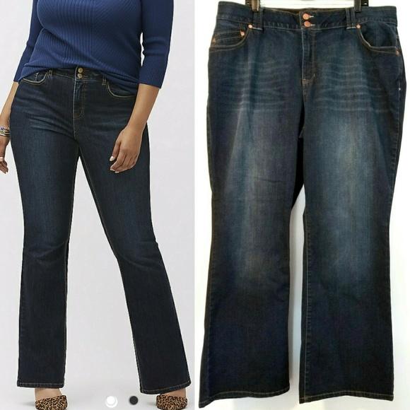 44dc28d0d9a3b Lane Bryant Denim - 22 Lane Bryant Bootcut T3 Tighter Tummy Tech Jeans